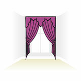 Interior decoration textiles sketch. box decorated curtains. int Royalty Free Stock Image