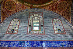 The interior decoration in Topkapi Palace, Istanbul, Turkey Royalty Free Stock Photo