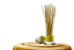Interior decoration with zen ambiance Royalty Free Stock Photos