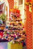 Interior del árbol de navidad Imagen de archivo libre de regalías