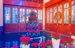 Interior del árbol de navidad, casa, hotel, oficina Fotografía de archivo