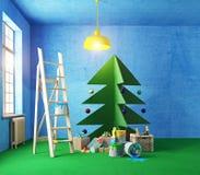 Interior del árbol de navidad de la madera contrachapada libre illustration