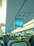 Interior del aeroplano fotografía de archivo