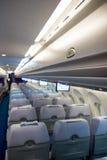 Interior del aeroplano Imágenes de archivo libres de regalías
