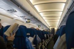 Interior del aeroplano fotos de archivo libres de regalías