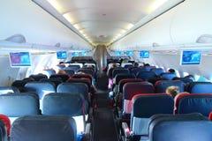 Interior del aeroplano Imagen de archivo libre de regalías