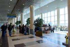 Interior del aeropuerto de Domodedovo Foto de archivo libre de regalías