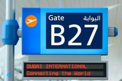 Interior del aeropuerto de Dubai International Fotos de archivo libres de regalías