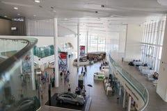 Interior del aeropuerto de Kurumoch Foto de archivo libre de regalías