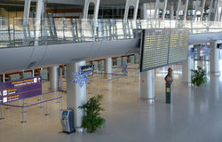 Interior del aeropuerto internacional de Lviv Imagen de archivo libre de regalías