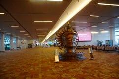 Interior del aeropuerto internacional de Nueva Deli imágenes de archivo libres de regalías
