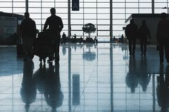 Interior del aeropuerto internacional de Shangai Pudong Imágenes de archivo libres de regalías
