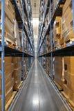 Interior del almacén Foto de archivo libre de regalías