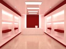Interior del almacén del departamento libre illustration