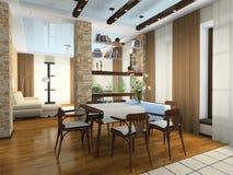 Interior del apartamento con estilo Imagen de archivo libre de regalías