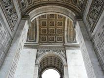 Interior del Arc de Triomphe, París Imágenes de archivo libres de regalías