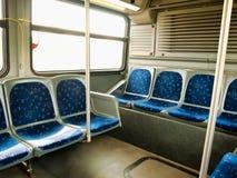 Interior del autobús de la ciudad Imagenes de archivo