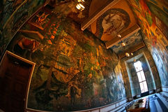 Interior del ayuntamiento de Oslo noruega imagen de archivo libre de regalías