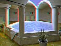 Interior del balneario Foto de archivo libre de regalías