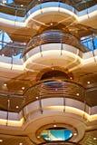 Interior del barco de cruceros Imágenes de archivo libres de regalías