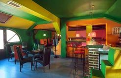 Interior del café Fotografía de archivo