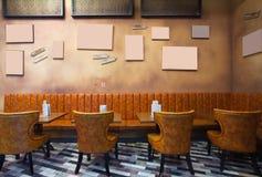 Interior del café Foto de archivo libre de regalías