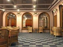 Interior del café del vintage ilustración del vector