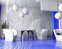 Interior del café en Verde Foto de archivo libre de regalías