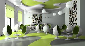 Interior del café moderno Imágenes de archivo libres de regalías