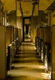 Interior del carretón viejo en el tren Foto de archivo libre de regalías