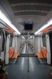 Interior del carro del metro Imagen de archivo libre de regalías