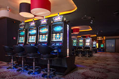 Interior del casino Imágenes de archivo libres de regalías