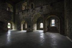 Interior del castillo fotos de archivo
