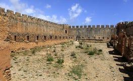 Interior del castillo Crete de Frangokastello fotos de archivo