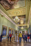 Interior del castillo del ingeniero s (castillo de Mikhailovsky) fotos de archivo