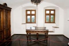 Interior del castillo del salvado Imágenes de archivo libres de regalías