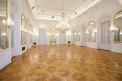 Interior del castillo, sitio del espejo Fotografía de archivo