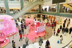 Interior del centro comercial de Hong Kong Fotos de archivo libres de regalías