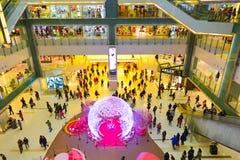 Interior del centro comercial de Hong Kong Foto de archivo