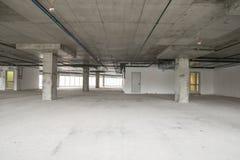 Interior del centro de negocios bajo construcción Fotos de archivo