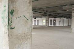 Interior del centro de negocios bajo construcción Foto de archivo libre de regalías