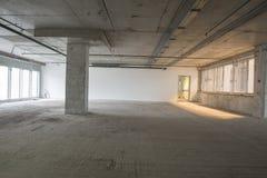 Interior del centro de negocios bajo construcción Fotografía de archivo