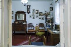 Interior del chalet de Anton Chekhov en Gurzuf Imágenes de archivo libres de regalías