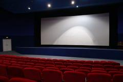 Interior del cine Foto de archivo libre de regalías