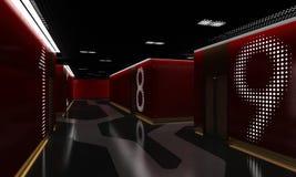 Interior del cine múltiplex Imágenes de archivo libres de regalías