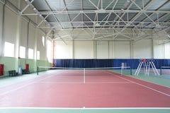 Interior del club de tenis del deporte Imagen de archivo
