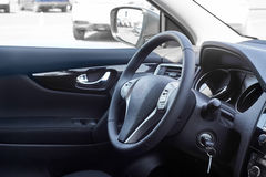 Interior del coche dashboard imagenes de archivo