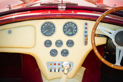 Interior del coche de deportes Imagen de archivo libre de regalías