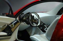 Interior del coche de deportes Fotografía de archivo