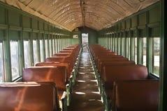 Interior del coche de ferrocarril Imagenes de archivo